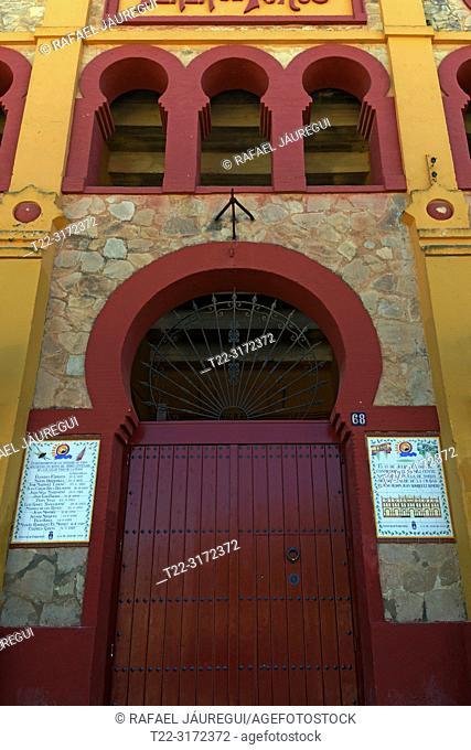Sanlucar de Barrameda (Cadiz) Spain. Bullring town of Sanlucar de Barrameda