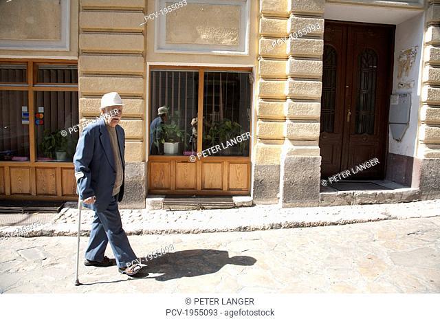 Old Man On A Street In The Ottoman Bazaar District Of Bascarsija, Sarajevo, Bosnia And Herzegovina