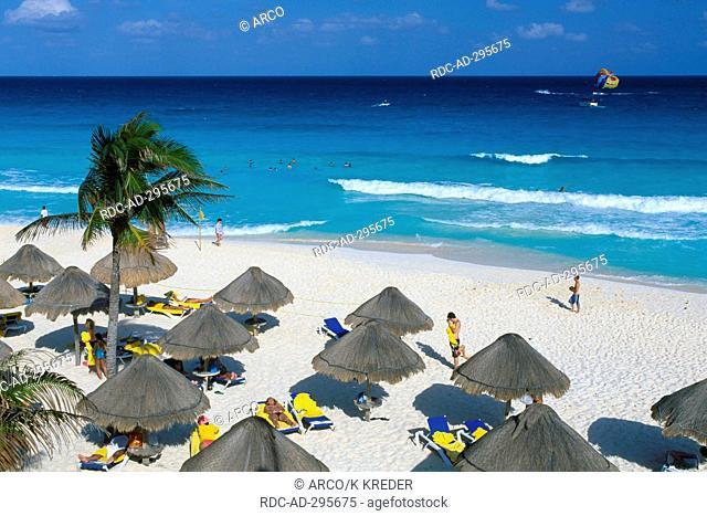 Beach of Cancun, Riviera Maya, Yucatan, Mexico