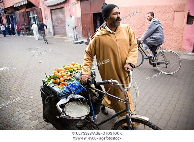 africa, morocco, marrakech, oranges seller