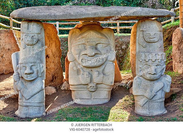 Mesita B, archaeological park Parque Arqueologico De San Agustin , Colombia, South America - San Agustin, Huila Department, Colombia, 24/08/2017