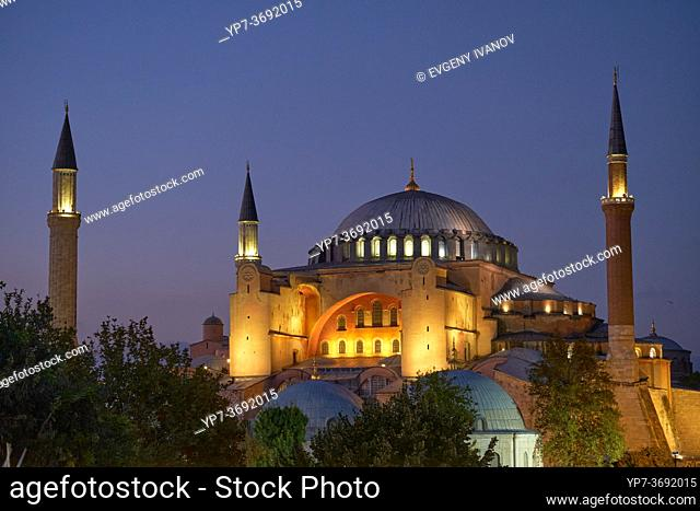 Hagia Sophia Church /Mosque in Istanbul at night