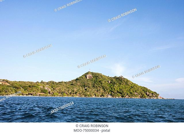 Seascape with island in background, Koh Pha Ngan, Thailand