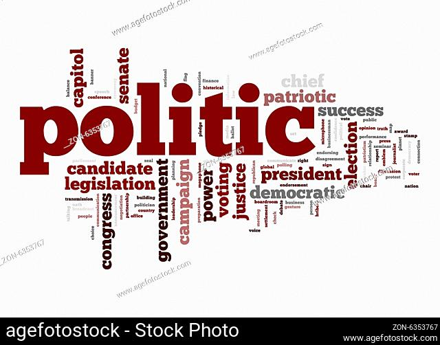 Politic word cloud
