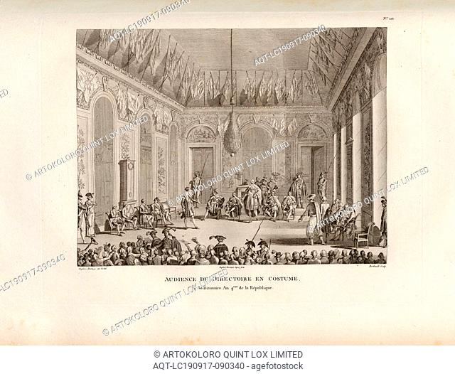 Audience of the Directory in Costume, the 30 Brumaire Year 4. of the Republic, Public Audience of the Government at the Palais du Luxembourg