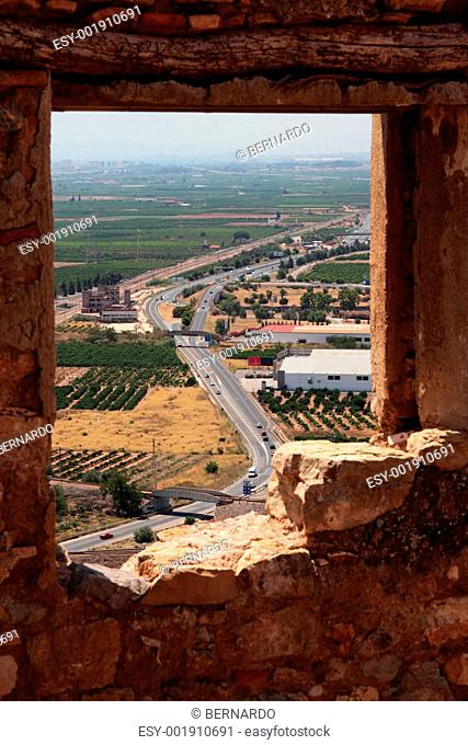View from the castle of Sagunto