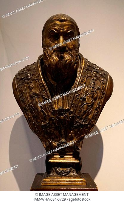 Bust of Pope Sixtus V (1521-1590) Italian Pope. Dated 16th Century