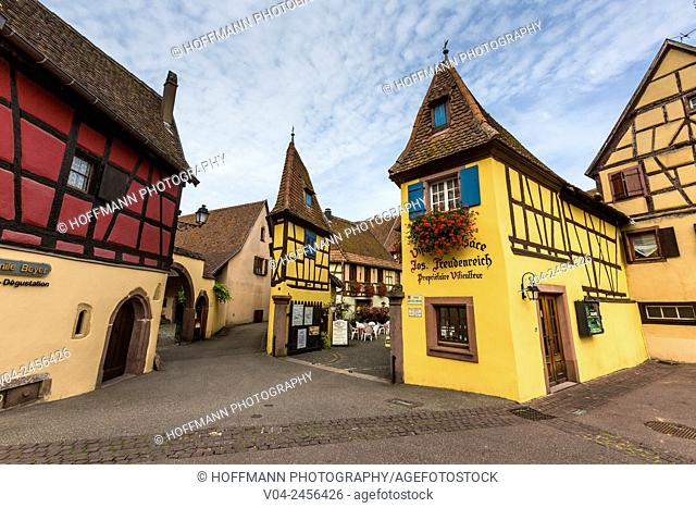Picturesque winery in Eguisheim, Alsace, France, Europe