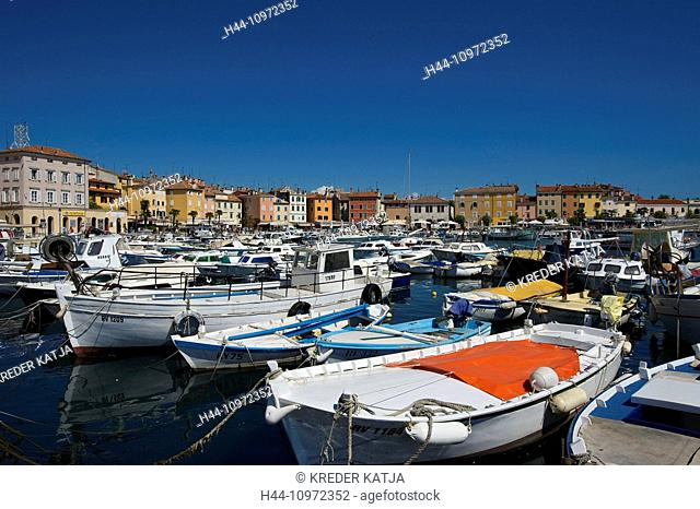 Istria, Europe, Croatia, outside, day, nobody, Rovinj, Old Town, town view, town, city, Adriatic, Mediterranean Sea, sea, harbour, port, fishing harbour