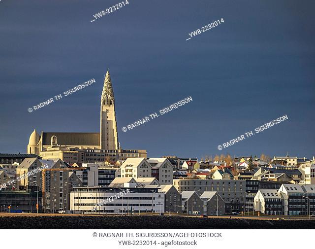 Reykjavik with Hallgrimskirkja Church, Iceland