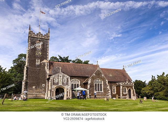 St. Mary Magdalene Church at Sandringham in Norfolk , England , Britain , Uk