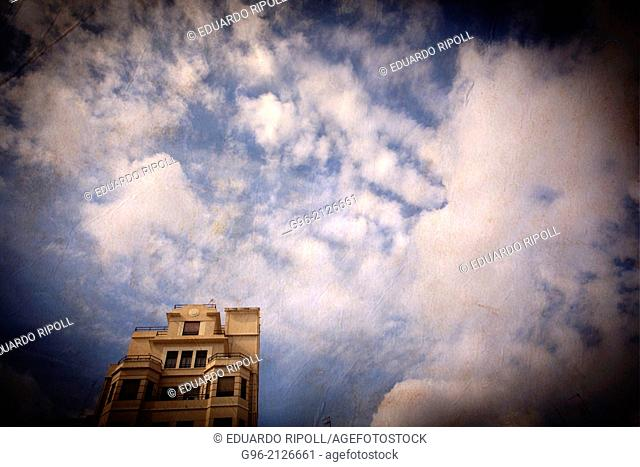 building and sky in Valencia, Spain