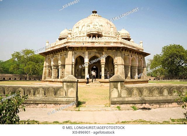 Octagonal tomb of Isa Khan Niyazi, near to Humayun's Tomb, New Delhi, Delhi, India