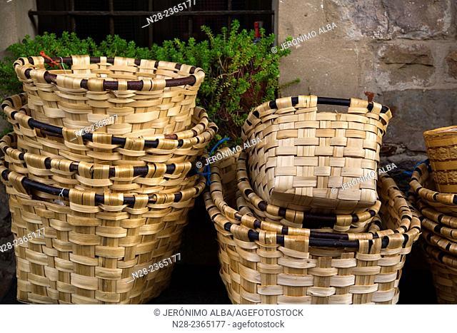 Handmade baskets, Barcena Mayor, Saja Nansa Natural Park, Cantabria, Spain