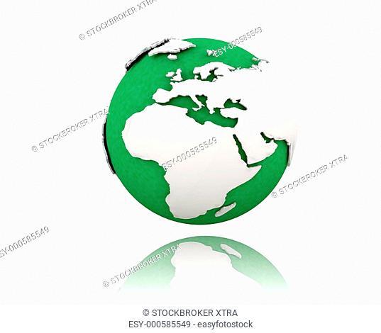 3D render of a globe