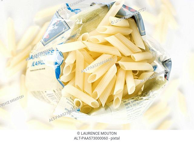 Gluten-free penne pasta made from rice