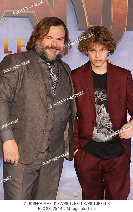 """Jack Black, Samuel Black at Sony Pictures' """"""""Jumanji: The Next Level"""""""" World Premiere held at the TCL Chinese Theater in Hollywood, CA, December 9, 2019"""