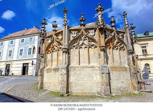 Gothic Fountain, Kutna Hora,UNESCO, Bohemia, Czech Republic