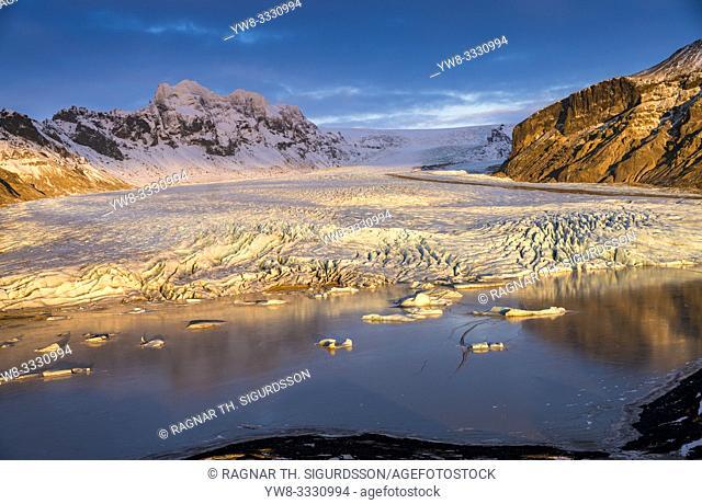 Skaftafellsjokull Glacier, Vatnajokull National Park, Iceland