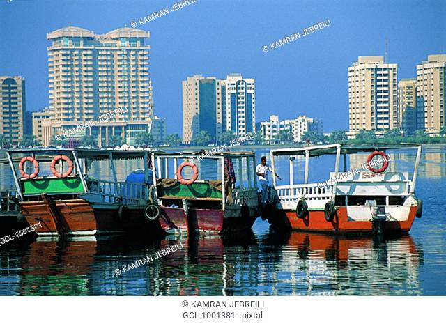 Dhows on the creek in Dubai, UAE