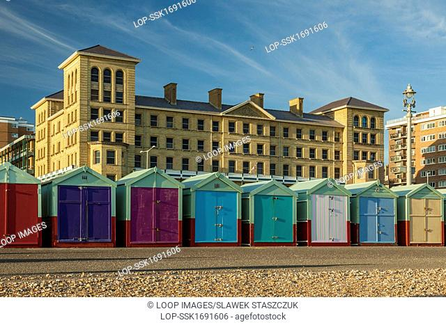 Beach huts on Hove seafront