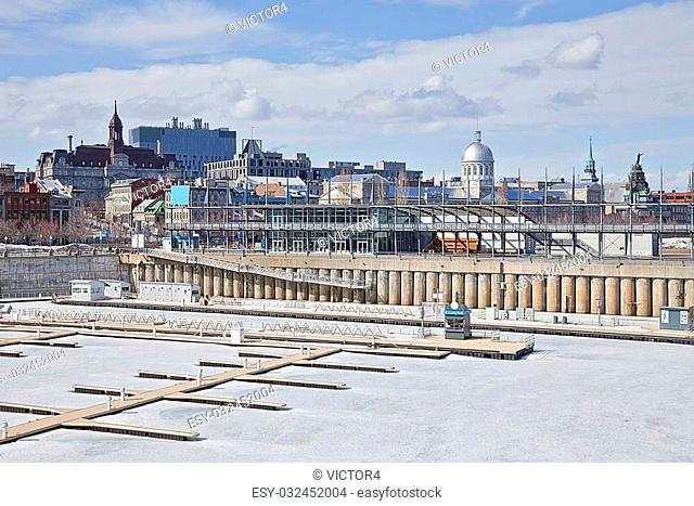 Montreal Canada Old Port In Winter