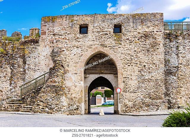 Segovia gate, facing south of the city, being the only survivor is now known as Arco de la Villa or Puerta de la Villa. Coca, Segovia, Castilla y León, Spain