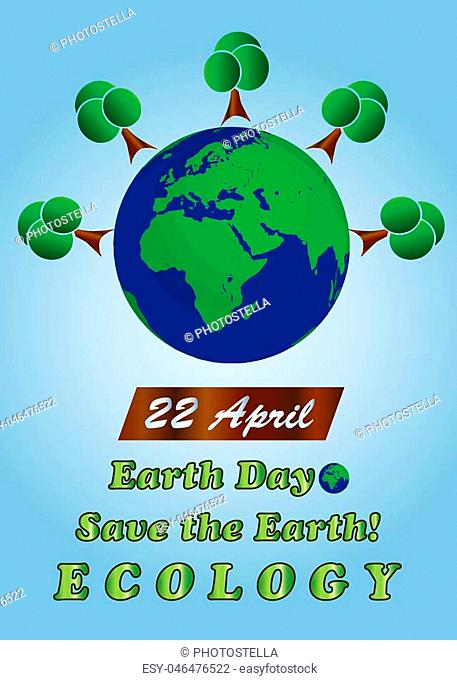 planet earth - 22 April earth day - ecology concept