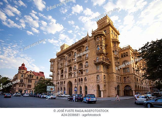 Azerbaijan , Baku City, Down town architecture