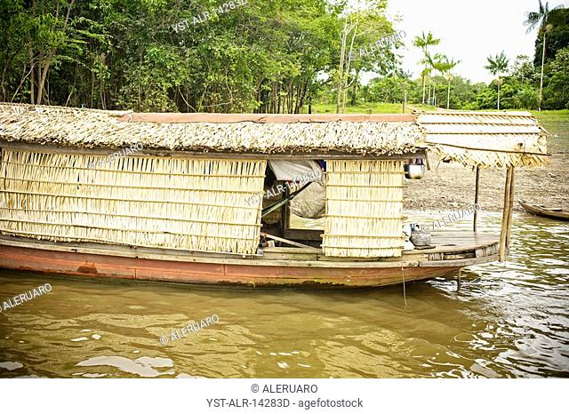 Boat of Indians, Reserva do Jaú, Amazonas, Brazil