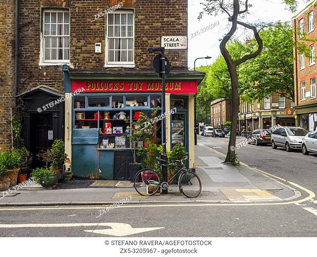 Pollock's Toy Museum in Bloomsbury - London, England