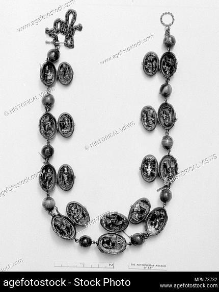 Rosary. Date: probably third quarter 19th century; Culture: European; Medium: Onyx, gold, enamel; Dimensions: Length: 17 1/2 in. (44