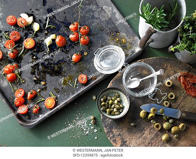 Basic ingredients for savoury spreads