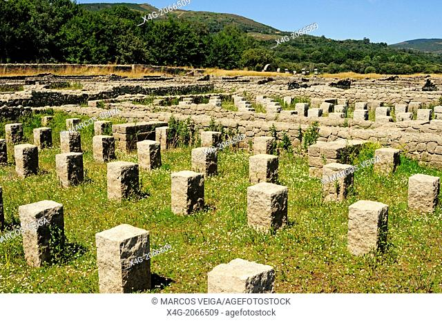 Remains of the roman military camp Aquis Querquennis, Bande, Ourense, Galicia, Spain