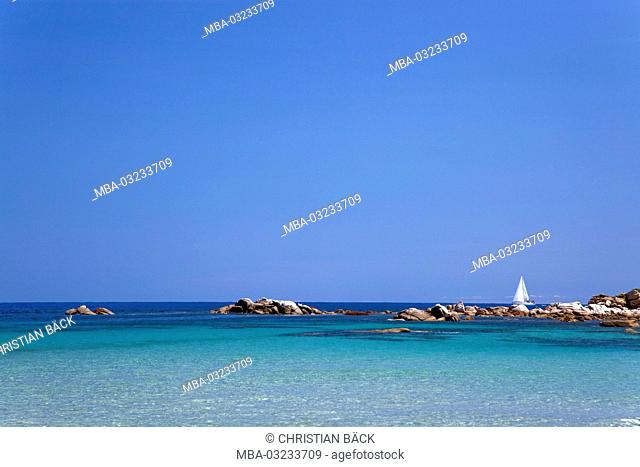 Italy, Sardinia, East coast, Ogliastra, Bari Sardo, Torre di Bari, Marina di Bari, Lido di Cea