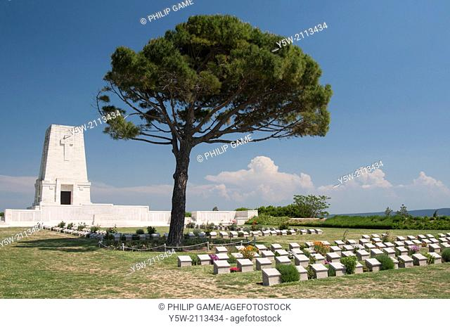 Lone Pine cemetery on the Gallipoli Peninsula, Turkey