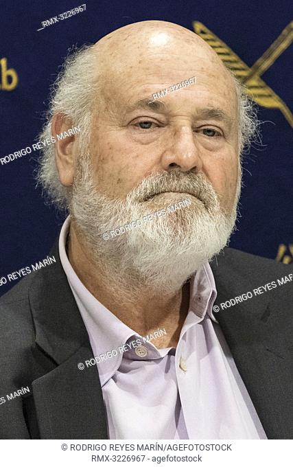 February 01, 2019, Tokyo, Japan - American actor, director and producer Rob Reiner attends a news conference for his film Shock and Awe at The Foreign...