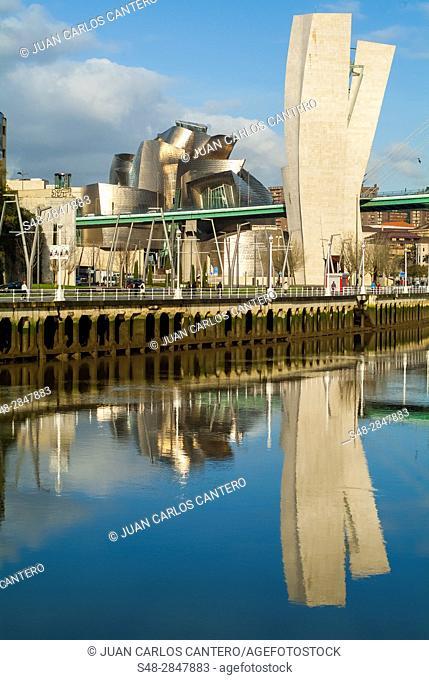 Puente de La Salve. Bilbao. Vizcaya. Basque Country. Spain. Europe