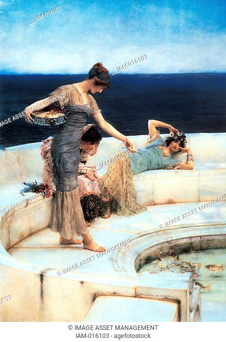 Sir Lawrence Alma-Tadema 1836-1912Silver Favourites Oil on canvas 1903. Sir Lawrence Alma-Tadema8 January 1836 – 25 June 1912 was one of the most renowned...