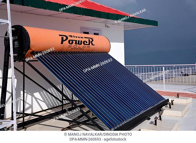 solar panel at Kali Mata temple Chail, Himachal Pradesh, India, Asia