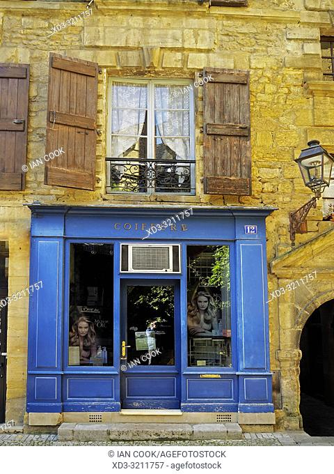 hairdresser, Sarlat-la-Caneda, Dordogne Department, Nouvelle-Aquitaine, France
