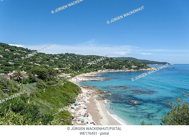 Coast at the beach of l'Escalet, Ramatuelle, Var, Provence-Alpes-Cote d`Azur, France, Europe