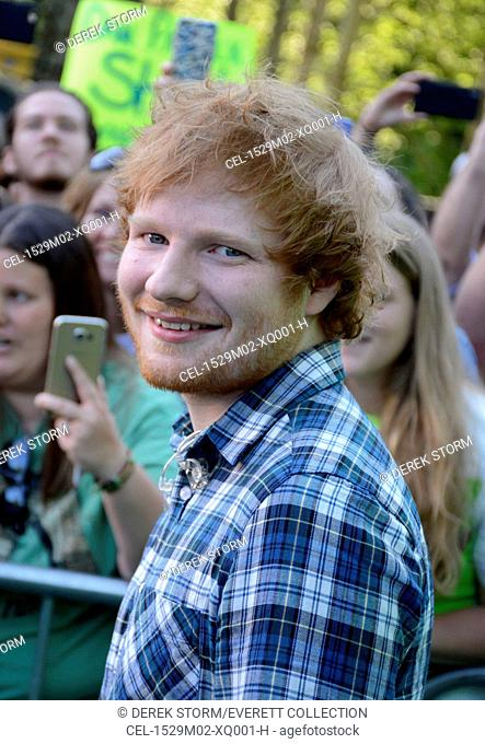 Ed Sheeran on stage for ABC's Good Morning America (GMA) Fun in the Sun Summer Concert Series with Ed Sheeran, Rumsey Playfield in Central Park, New York