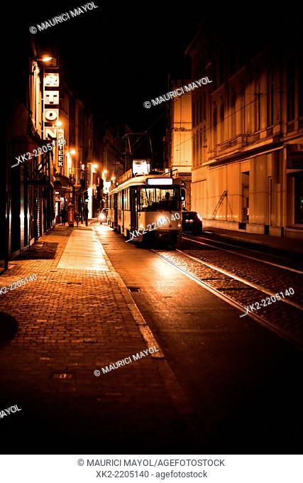 Public transport till late hours, Antwerp, Belgium