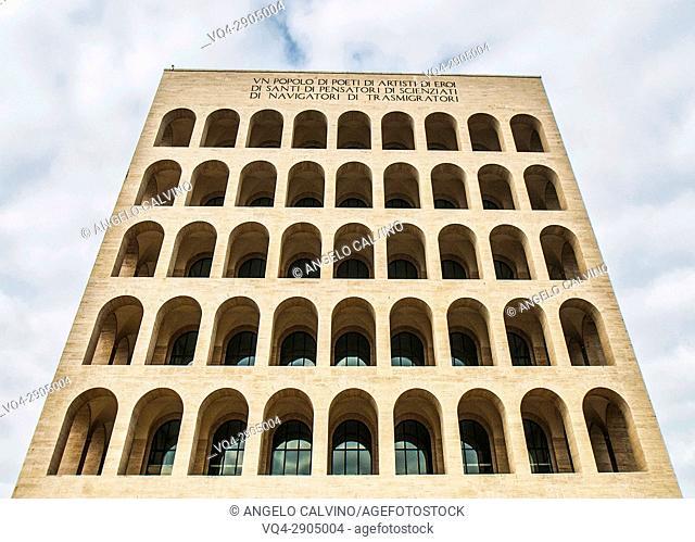 Palazzo della Civiltà Italiana, Colosseo Quadrato, EUR, Expo, Rome, Italy, Esposizione Universale