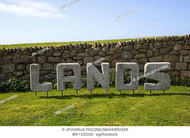 Land's End Sign, Penn an Wlas, Cornwall, England, United Kingdom, Europe