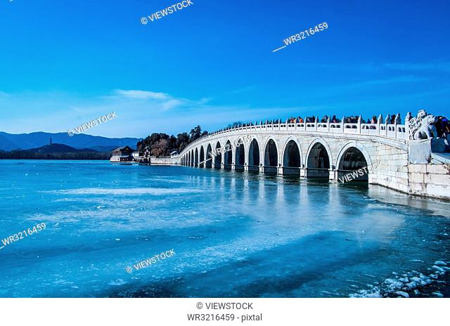 The Summer Palace, the marble seventeen-arch bridge which