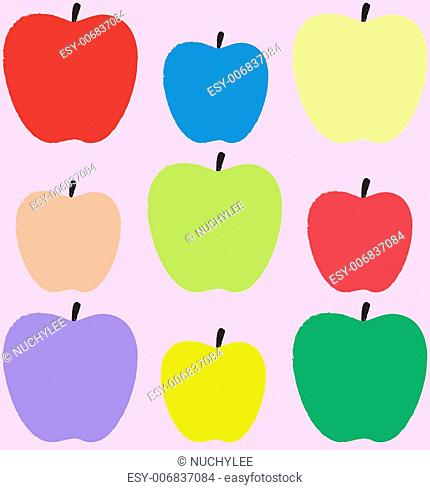Colorful apples pattern