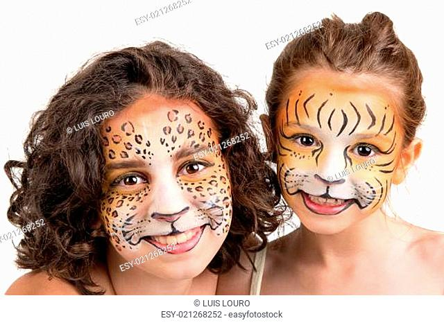 Face painting, felines