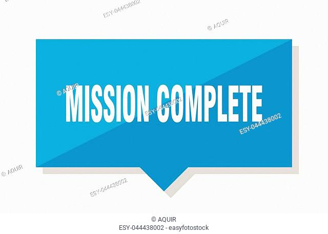 mission complete blue square price tag